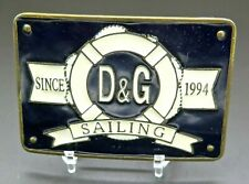 Dolce & Gabbana D&G Sailing Nautical Vintage Belt Buckle