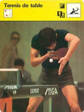 FICHE CARD: Au service Imano Yujiro Japan Echange Fautes TENNIS de table 1970s