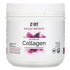 Z!NT - Grass-Fed Beef Collagen Hydrolyzed Collagen Types I & III Container- 1lb
