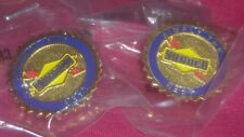 Lot of 2 SUNOCO refinery SIMPLY THE BEST Uniform lapel Pin GAS GASOLINE STATION