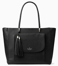 NWT! Kate Spade Longacre Court Black Leather *EXTRA LARGE* Tote Org $428.00
