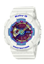 Casio Baby-G Women's G-Shock Sports Watch BA1127A 46.3mm White With Multicolor