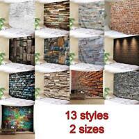 3D Brick Stone Tapestry Wall Hanging Art Room Bedspread 1 x Decor Beach F8H4