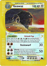 CCG 24 Pokemon Skyridge reverse holo Geowaz / Golem 148/144 German map