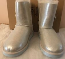 UGG Australia Shoes Boots Girls Silver Arendelle Ice US 4 / UK 3 / EU 34 Disney