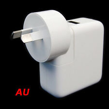 AU 4 Port USB Portable Home Travel Wall White Charger US Plug AC Power Adapter