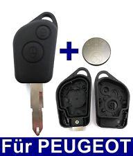 2Tasten Key Remote Control Case for Peugeot 106 206 306 405 + Battery