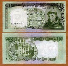 PORTUGAL 20  ESCUDOS  1964  Prefix EC P  167a   Uncirculated Banknotes