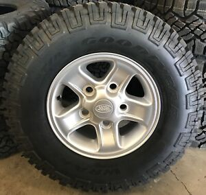 """NEW Genuine Land Rover Defender Boost 16"""" Alloy Wheels & Good Year Tyres x5"""