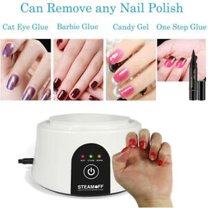 Steam Off Nail Polish Remover Steamer Electric Machine Professional Cleaner Soak