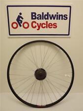 700c REAR Hybrid Bike Wheel - Quick Release - BLACK + 6 SPEED SHIMANO FREEWHEEL