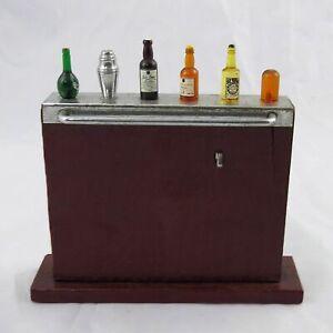 Art Deco Harris Dunn Wonder Bar Faux Crocodile Cocktail Pick Miniature Bar Set