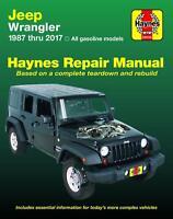 Jeep Wrangler Shop Manual 1987-2017 Service Repair Haynes Clymer Book Gasoline