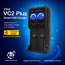 XTAR VC2 PLUS Master LCD 18650 26650 AA AAA C IMR Li-ion Battery USB Charger