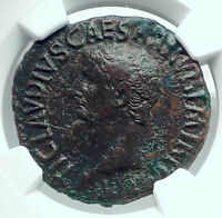 CLAUDIUS Authentic Ancient Rome Genuine Original Roman Coin MINERVA NGC i78432