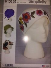 Simplicity R10359 Misses' 3 Styles Hats and 1 Headband Sewing Pattern New Uncut