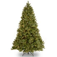 8ft Artificial Christmas Trees with Lights Holiday Home Decoration Snow Flocked