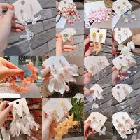 Fashion Women Boho Flower Tassel Earrings Dangle Drop Ear Stud Statement Jewelry