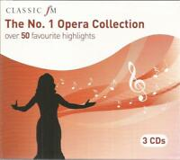THE NO.1 OPERA COLLECTION (2010) 56-track 3xCD set BRAND NEW Classic FM Decca