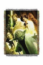 STAR WARS Small Rebel Force Tapestry Throw Blanket Wall Hanging Afghan Leia Yoda