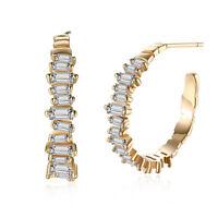 Hoop Earrings made with 200 Swarovski Crystals