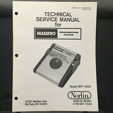 Original Service Manual for the Norlin Maestro Parametric Filter MPF-320A