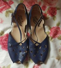 Blue Rocket Original Shoes Rockabilly Pin Up Vintage 1940s 1950s Retro