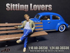 American Diorama 1:18 Scale Figure * Sitting Lover * AD-38230 - Figure I (male)