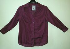 Nice AVENUE The Legging Shirt Sz 14/16 Horizontal PinStripe Purple Cotton Blend