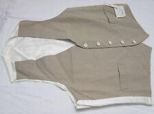 Men's Dress 2 Pocket Vest Tan & White Size 40 Rivkins New with Tags