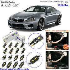 10 Bulbs LED Interior Light Kit Xenon White For 2011-2017 F13 BMW 6 Series Coupe