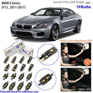 10 Bulbs LED Interior Light Kit Xenon White For 2011-2017 F13 BMW 6 Series Coupe