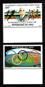 Olympic Mali 1988 pair of stamps Mi#1106-07 MNH CV=7€