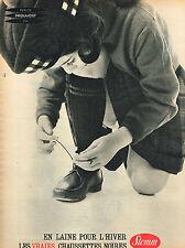 PUBLICITE ADVERTISING 114  1961  STEMM   chaussettes enfants