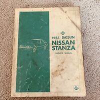 1982 Datsun Nissan Stanza Service Shop Repair Manual