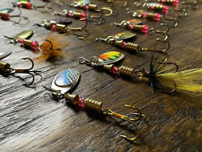 30 PCS Spinner Bait, Rooster Tail, Trout, Bass Metal Lure, Crappie, Panfish Lure
