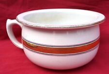 French Art Deco Chamber Pot Gold Ribbon St Amand Faience 1930