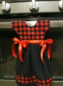 Dress Shape Kitchen Towel Red and Black Buffalo Plaid