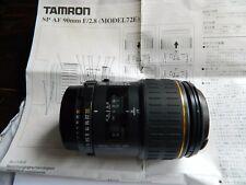 Tamron 90 mm 1:2 .8 objectif Nikon AF Mount