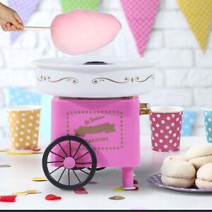 HOMCOM Zuckerwattemaschine Zuckerwattegerät Zuckerwatte 2 Heizröhren Rosa Neu