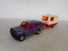 1/36 MAJORETTE DIECAST TOY RANGE ROVER  PURPLE  WITH CARAVAN N MINT RARE SET