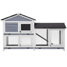 Topmax Pet Rabbit Hutch Wooden House Chicken Coop for Small Animals