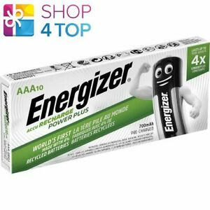 10 ENERGIZER ACCU RECHARGEABLE POWER PLUS AAA HR03 BATTERIES 1.2V 700mAh NEW