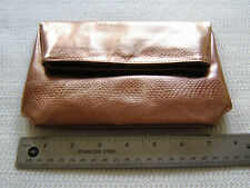 Bare Escentuals Bronze Faux Leather Makeup Bag Case Clutch Free US Shipping