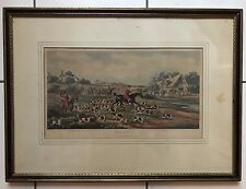 "HAND COLORED ETCHING SIGNED ALKEN DELL ""GOING TO CLOVER"""