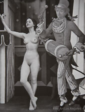 """Zoltan Glass Photo """"Nude Study With Drummer"""" 1955 Photoengraving"""