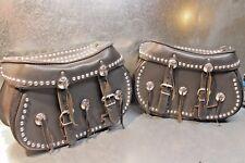 Harley Davidson Studded Saddlebags Saddle Bag Pair Detachable OEM w/ KEY