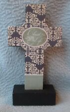 """CHRIST THE WAY THE TRUTH AND THE LIFE 5"""" WOOD TABLE CROSS"""