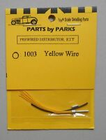 YELLOW PRE-WIRED DISTRIBUTOR 1:24 1:25 PART BY PARKS CAR MODEL ACCESSORY 1003