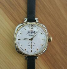 "SHINOLA ""GOMELSKY"" ladies Watch White & Golden Face & Wrap around band  (NWT)"
